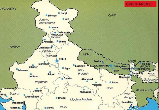 Cartina Dell India Del Nord.India Del Nord Informazioni Di Viaggio Orientamenti It